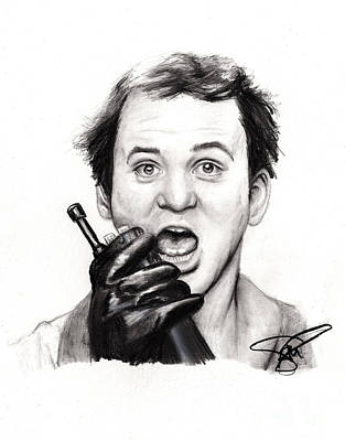 Drawing - Bill Murray by Rosalinda Markle
