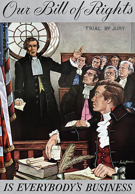 Painting - Bill Of Rights, 1959 by Granger