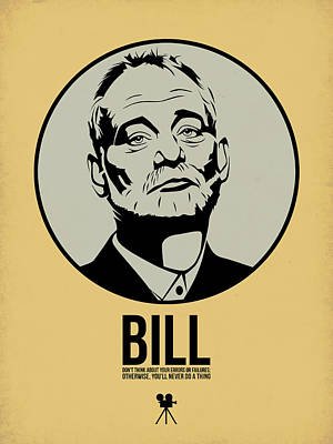 Stars Digital Art - Bill Poster 1 by Naxart Studio