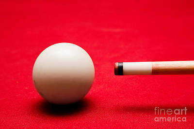 Billards Pool Game Art Print by Michal Bednarek