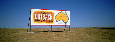 Billboard On A Landscape, Outback Art Print by Panoramic Images