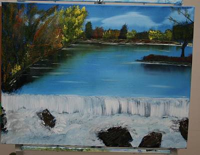 Concord Mass Painting - Billerica Falls by Gary Frascarelli