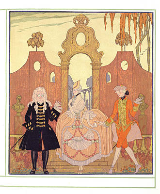 'billet Doux' Art Print by Georges Barbier