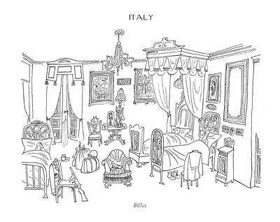 Italian Food Drawing - Billet by Saul Steinberg