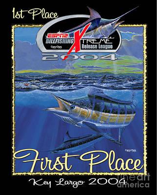 Dolphin Digital Art - Billfish Xtreme League by Carey Chen