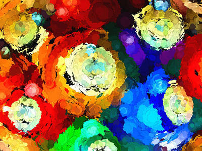 Billiard Balls Abstract Digital Art Art Print