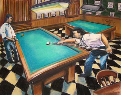 Painting - Billiard Hall by Michael Foltz