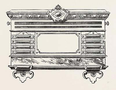 Billiard Drawing - Billiard Marking Board by Burroughes And Watts, English, 19th Century