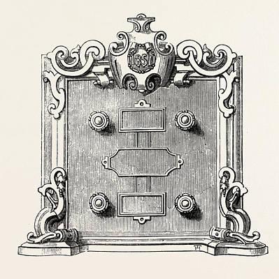 Billiard Drawing - Billiard Marking Board by Thurston And Co., English, 19th Century