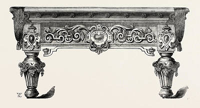 Billiard Drawing - Billiard-table by Thurston And Co., English, 19th Century