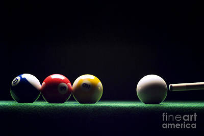 Cue Ball Photograph - Billiard by Tony Cordoza