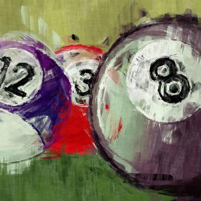 Billiard Balls Digital Art - Billiards 12 3 8 by David G Paul