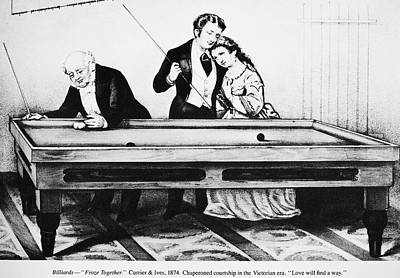 Cue Painting - Billiards, 1874 by Granger