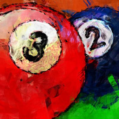 Rail Digital Art - Billiards 3 And 2 by David G Paul