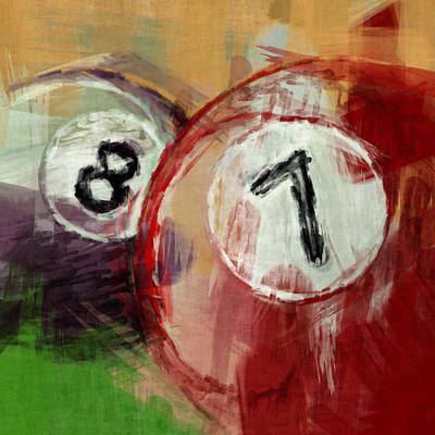 Billiards 8 And 7 Art Print by David G Paul