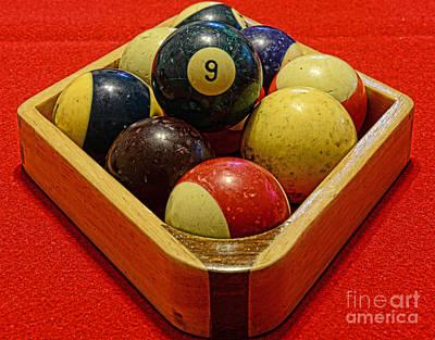 9 Ball Photograph - Billiards - 9 Ball - Pool Table - Nine Ball by Paul Ward