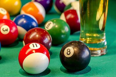 Pool Break Photograph - Billiards Anyone by Teri Virbickis