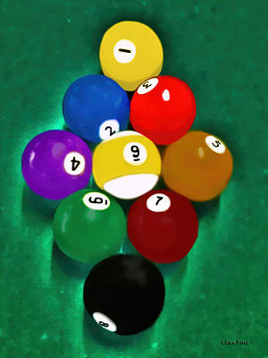 Mixed Media - Billiards Art - Your Break 1 by Lesa Fine