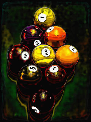 Mixed Media - Billiards Art - Your Break 6 by Lesa Fine