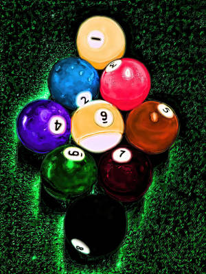 Mixed Media - Billiards Art - Your Break by Lesa Fine