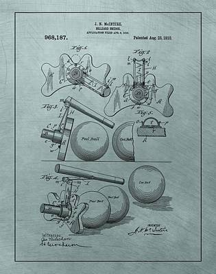 Billiard Mixed Media - Billiards Bridge Patent by Dan Sproul