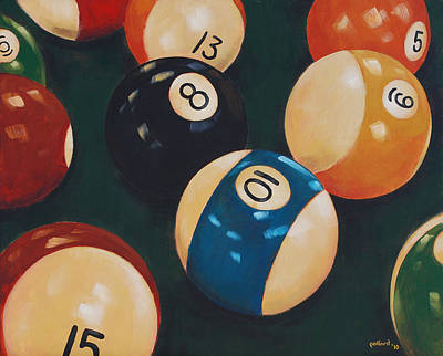 Painting - Billiards by Glenn Pollard