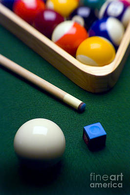 Cue Ball Photograph - Billiards by Tony Cordoza