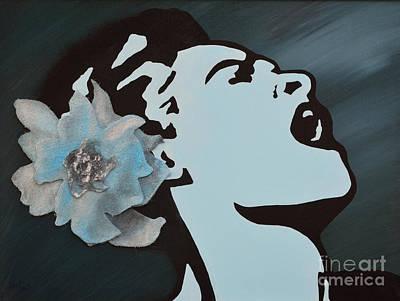 Billie Holiday Print by Alys Caviness-Gober