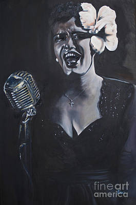 Billie Holiday Painting - Billie Holiday by Annalise Kucan