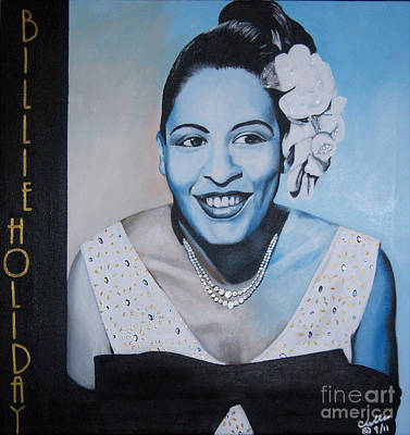 Billie Holiday Art Print by Chelle Brantley