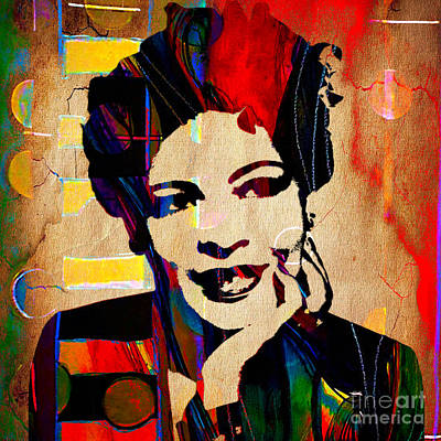 Jazz Musician Mixed Media - Billie Holiday Collection by Marvin Blaine