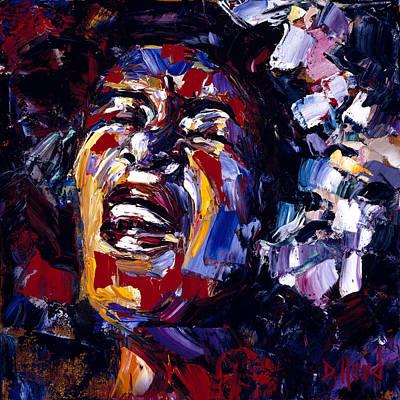 Billie Holiday Painting - Billie Holiday Jazz Faces Series by Debra Hurd