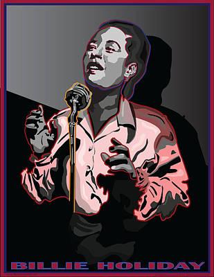 Billie Holiday Jazz Singer Art Print by Larry Butterworth