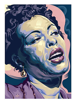 Jazz Royalty Free Images - Billie Holiday Portrait 2 Royalty-Free Image by Garth Glazier