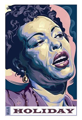 Jazz Painting Royalty Free Images - Billie Holiday Portrait Royalty-Free Image by Garth Glazier