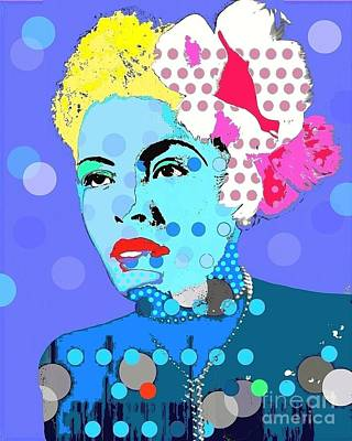 Digital Art - Billie Holiday by Ricky Sencion
