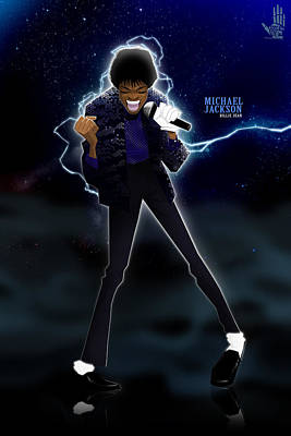 Jackson Drawing - Billie Jean by Nelson Dedos Garcia