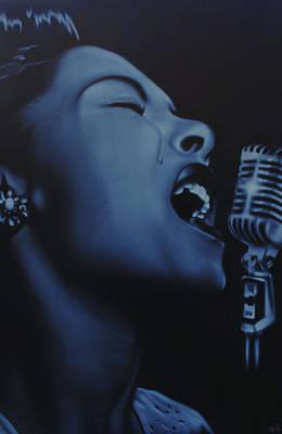 Black History Painting - Billie by Nicko Gutierrez