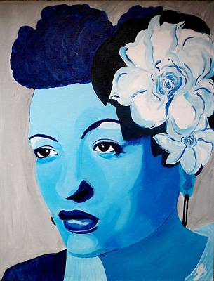 Love Making Painting - Billie's Blues by Janeen Stone Morehead
