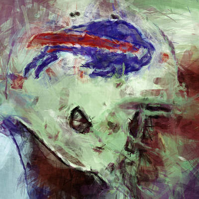 Football Royalty-Free and Rights-Managed Images - Bills Art by David G Paul