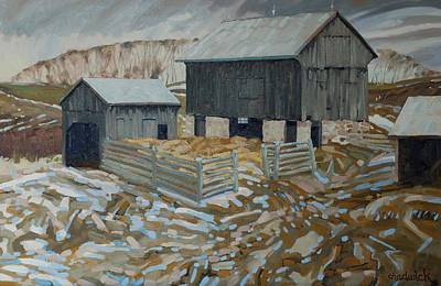 Bill's Barns Art Print by Phil Chadwick