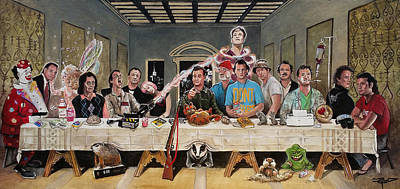 Painting - Bills Last Supper by Tom Carlton