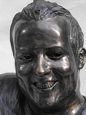 Florence Biennale Sculpture - Billy Bridges Close Up Face. by JA Fligel