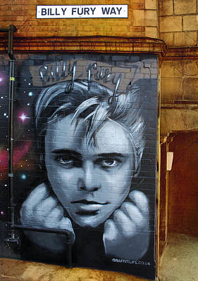 Billy Fury Way Art Print by Stephen Norris