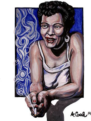 Wall Art - Painting - Billy Holiday by Adam B Cook