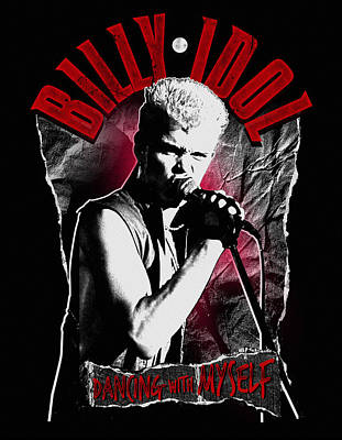 Billy Idol - Dancing With Myself Art Print by Epic Rights