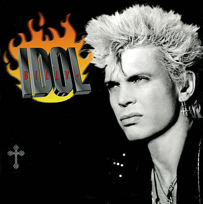 Billy Idol - Greatest Hits 2001 Art Print by Epic Rights