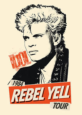 Billy Idol - Rebel Yell Tour 1984 Art Print by Epic Rights