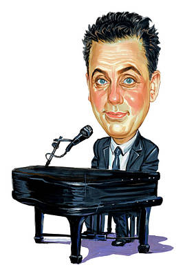 Comics Royalty-Free and Rights-Managed Images - Billy Joel by Art