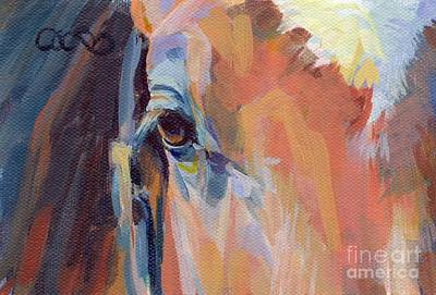 Bay Thoroughbred Painting - Billy by Kimberly Santini